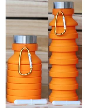 Gourde magnétique pliable orange