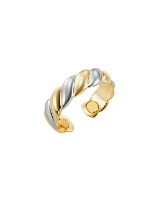 Bague magnétique cuivre couleurs or blanc et or jaune