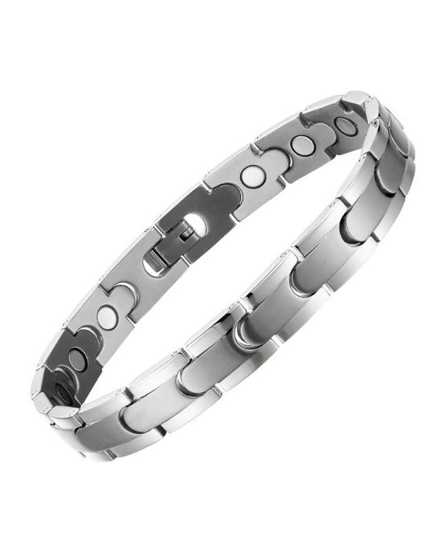 Bracelet acier inox et 15 aimants pour la circulation sanguine - Citronnier