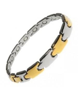 Bracelet aux anti-inflammatoires et apaisantes magnétique en acier inox - Mélèze