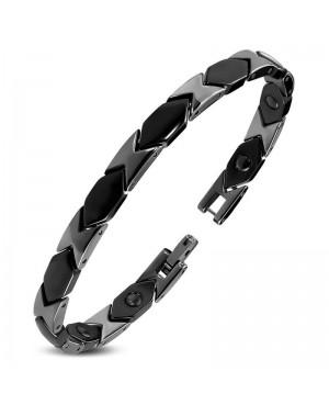 Bracelet magnétique céramique noire - Morphée
