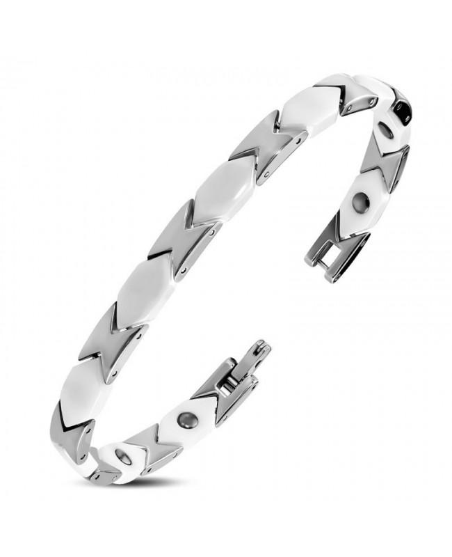Bracelet léger magnétique en céramique blanche - Morphée