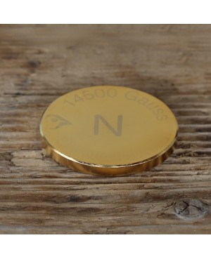 Double lingot 50 mm aimant Néodyme puissance 14500 gauss, épaisseur 5 mm