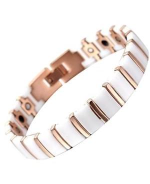 Bracelet magnétique céramique blanche - Athéna
