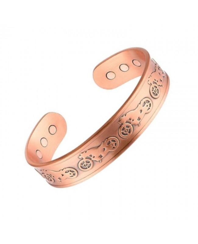 Bracelet magnétique cuivre - Moto
