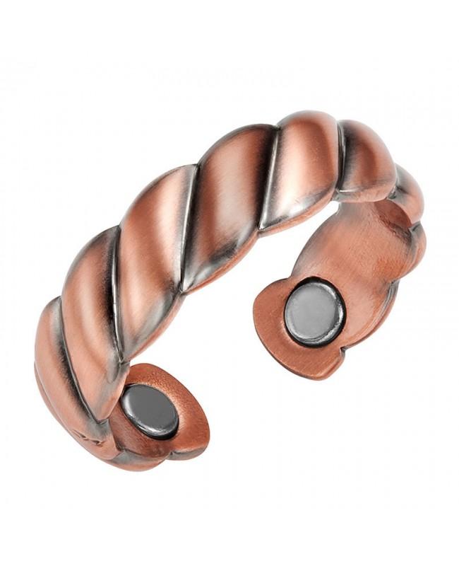 Bague magnétique en cuivre et 2 aimants pour l'inflammation du canal carpien