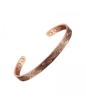 Bracelet cuivre magnétique 6 aimants pour douleurs articulaires - Vague