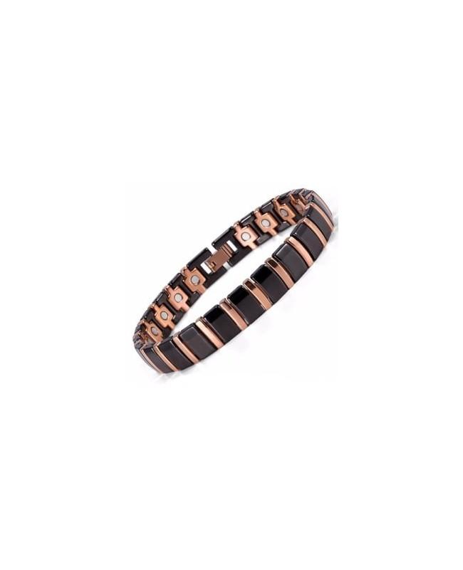 Bracelet magnétique céramique noire pour un calme intérieur