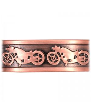 Bracelet magnétique cuivre thème harley davidson- Moto
