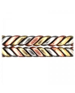 Bracelet avec ses couleurs trois ors brillantes blanc rose jaune - Palmier