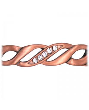 Bracelet en cuivre contre les douleurs de l'arthrose - Pétunia
