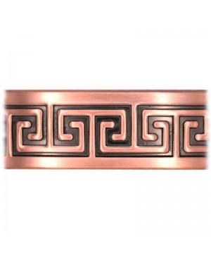 Bracelet large en pur cuivre massif symbole inca labyrinthe Hug - Curry