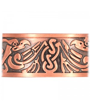 Bracelet avec aimants en cuivre avec gravure - Iris