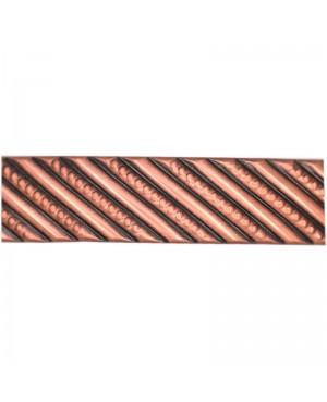 Bracelet cuivre contre les douleurs de l'arthrose avec fines lignes en spirale - Eglantine