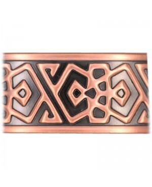Bracelet magnétique cuivre aux formes à géométrie de style inca - Épinette