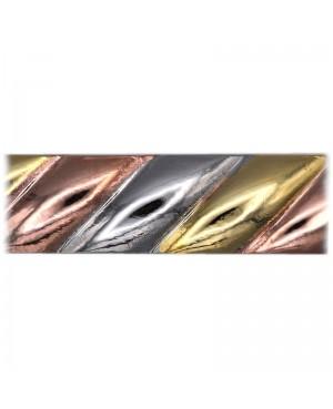 Bracelet magnétique effet spiral or blanc jaune rose - Alvine