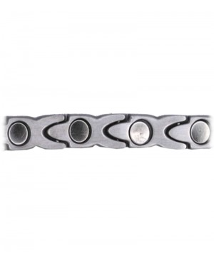 Bracelet aux vertus apaisantes magnétique acier inoxydable - Peuplier