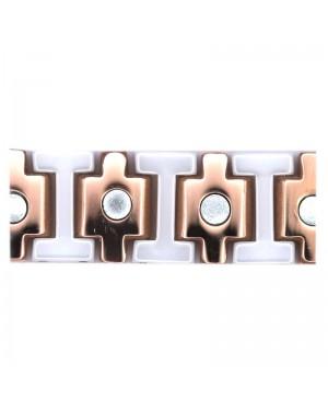 Bracelet magnétique céramique blanche énergie positive - Athéna