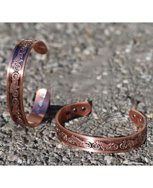 Bracelet magnétique en cuivre thème biker- Moto