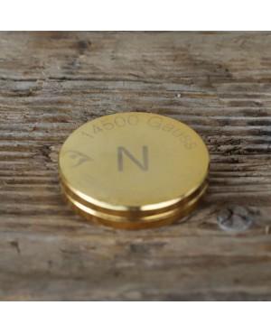 Double lingot 50 mm aimant Néodyme puissance 14500 gauss, épaisseur 10 mm