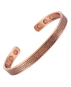 Bracelet cuivre magnétique 6 aimants et thème symbole inca labyrinthe Hug - Curry