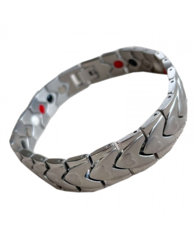 Bracelet magnétique acier - Fusain