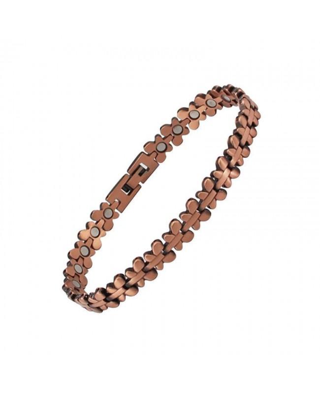 Bracelet magnétique en cuivre et aimants - Papillon