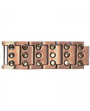 Bracelet magnétique en cuivre - surpuissant avec 3 rangées d'aimants