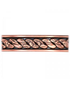 Bracelet en cuivre massif avec 6 aimants finement ciselé - Verbena