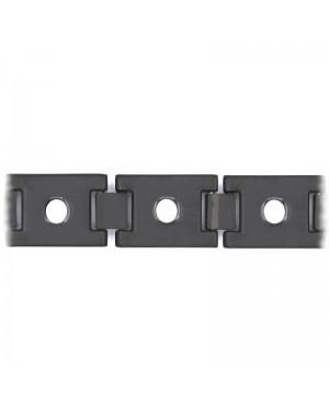 Bracelet léger magnétique en titane et carbone largeur 11 mm - Lobelia