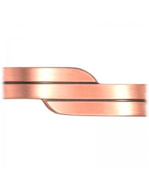 Bracelet magnétique cuivre avec une fine ligne et courbe structurée - Pépino