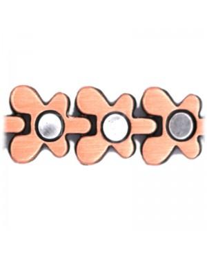 Bracelet magnétique 16 aimants en cuivre massif et aimants - Papillon