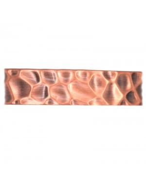Bracelet magnétique cuivre martelé - Fauve