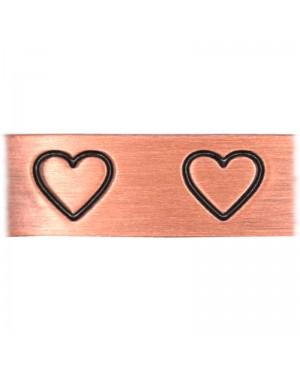 Bracelet 6 aimants cuivre avec cœurs pour le confort articulaire - Aimia