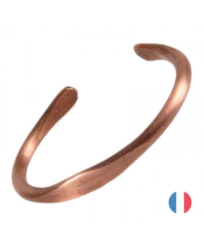 Bracelet cuivre massif - Clématite fabriqué en France