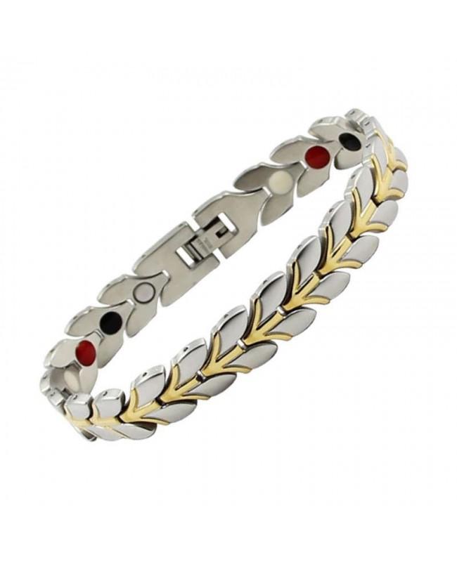 Bracelet harmonie intérieure magnétique acier - Lilas