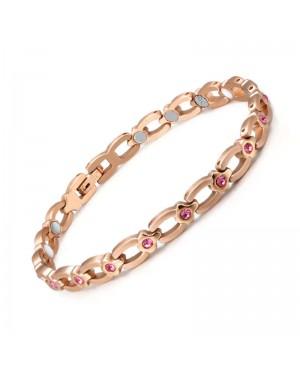 Bracelet magnétique acier inoxydable - Roséa