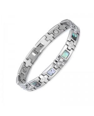 Bracelet magnétique acier inoxydable - Irizéa