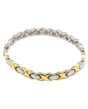 Bracelet magnétique acier amélioration de l'oxygénation cellulaire - Azara