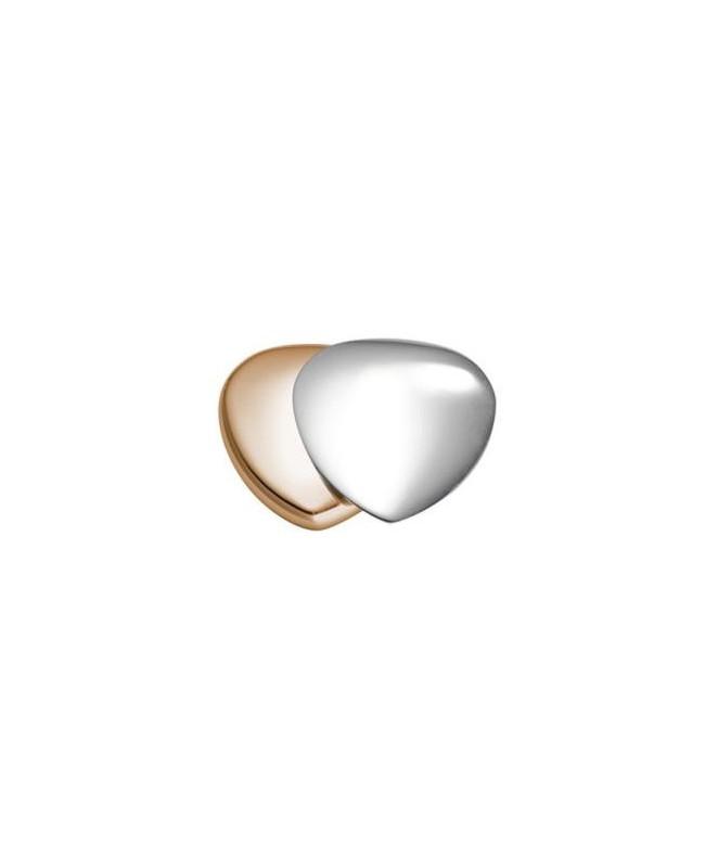 Cœur magnétique inox-cuivre Fleur de vie avec aimant puissant 3000 gauss